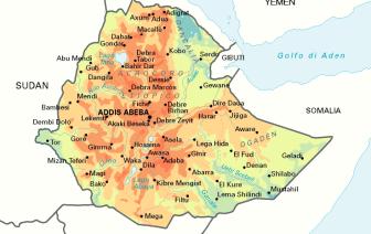 MAPPA ETIOPIA